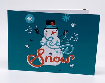 """Recordable 7"""" Video Christmas Cards - Xmas Snowman Let - With 256mb memory"""