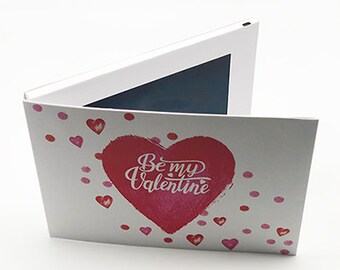 """Recordable 7"""" Video Valentine Cards - Be My Valentine - With 256mb memory"""