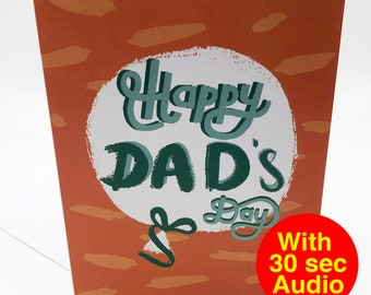 Recordable Audio Father's Day Cards - Balloon - With 30 second Audio