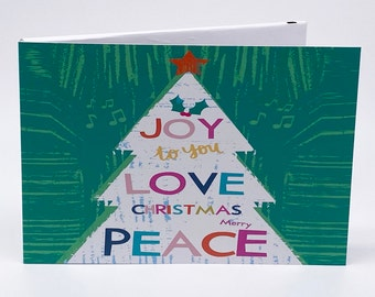 """Recordable 7"""" Video Christmas Cards - Xmas Tree Joy - With 256mb memory"""