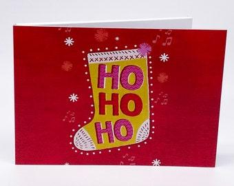 "Recordable 7"" Video Christmas Cards - Xmas HoHoHo - With 256mb memory"
