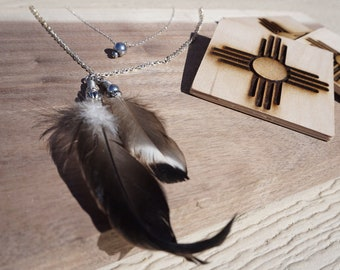 Double Duck Feather Necklace