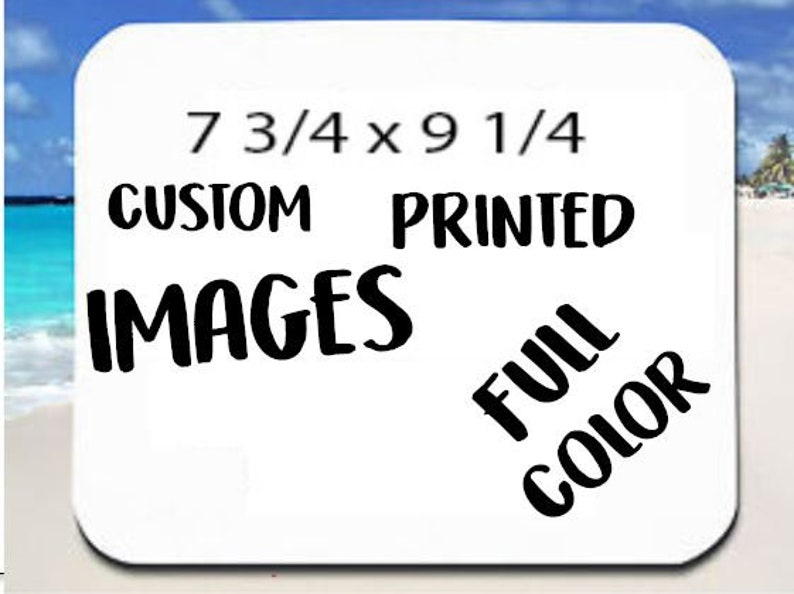 PERSONALIZED Mouse pads  COLOR SUBLIMATION any picture or saying Free Shipping!