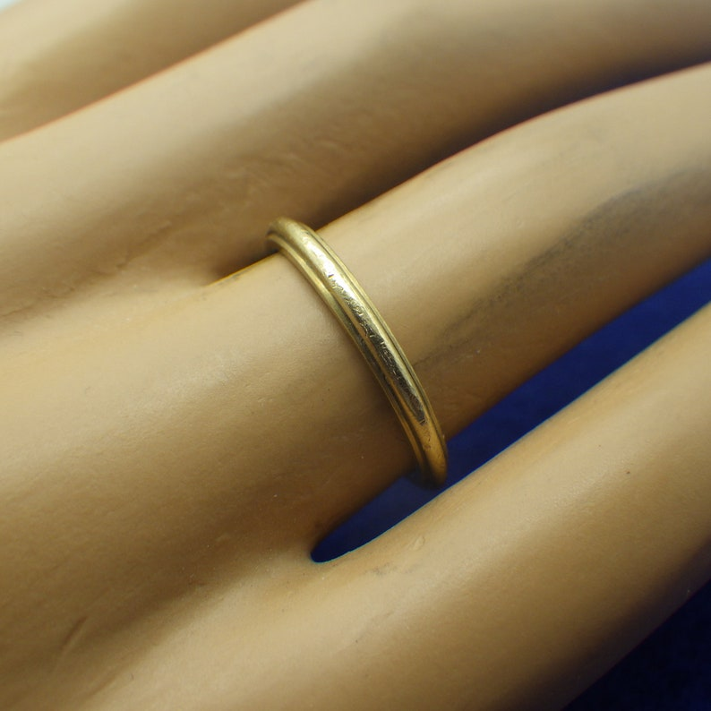 14k Gold Ring Antique Wedding Band Something Old Early Century Stackable Ring Wedding Ring US Size Six Simply Elegant Ladies and Girls Gold