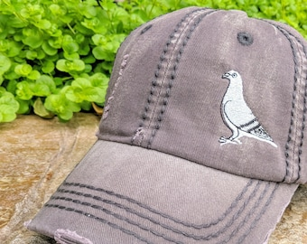 Women's Pigeon Hat, Hat with Pigeon, Pigeon Baseball Cap, Pigeon Clothing, Pigeon Accessories, Pigeon Birthday Gift, Pigeon Christmas Gift