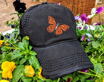 f08deff60b32a Butterfly High ponytail cap