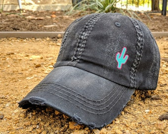 13170260bdd538 Women's cactus hat, hat with cactus, cactus hat, cactus baseball cap, cactus  birthday gift, cactus gift, cactus present, cute cactus hat
