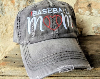 828236388885b Baseball mom hat