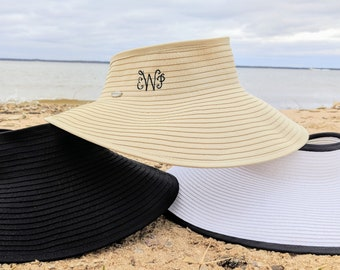 e7a7f3113aa Packable monogrammed sun hat
