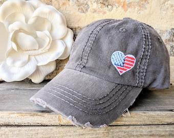 Men Womens Denim American Betsy Ross Flag Caps Cowboy Hats Stylish Hiking Cap