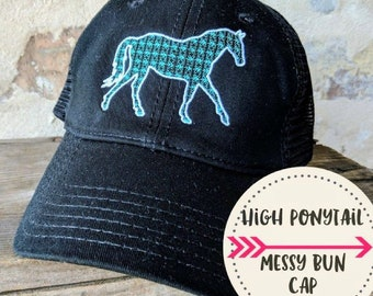 f374d056970 Horse High Ponytail Cap