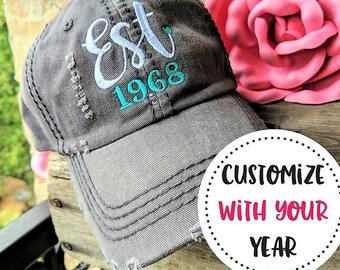 Womens Birthday Baseball Cap Hat 50th 40th