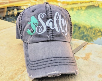 316f73e373da Salty baseball cap, women's mermaid baseball cap, mermaid baseball cap,  women's mermaid hat, mermaid hat, #mermaid, mermaid birthday gift