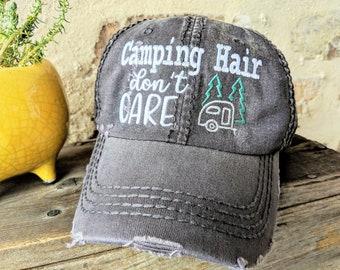 10d7bdce762 Women s Camping Hair Don t Care Baseball Cap