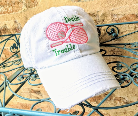 34bdc6ae7 Doubles Tennis Hat, Women's Tennis Baseball Cap, Women's Tennis Hat,  Doubles Tennis Gift, Doubles Tennis, Women's Tennis birthday gift