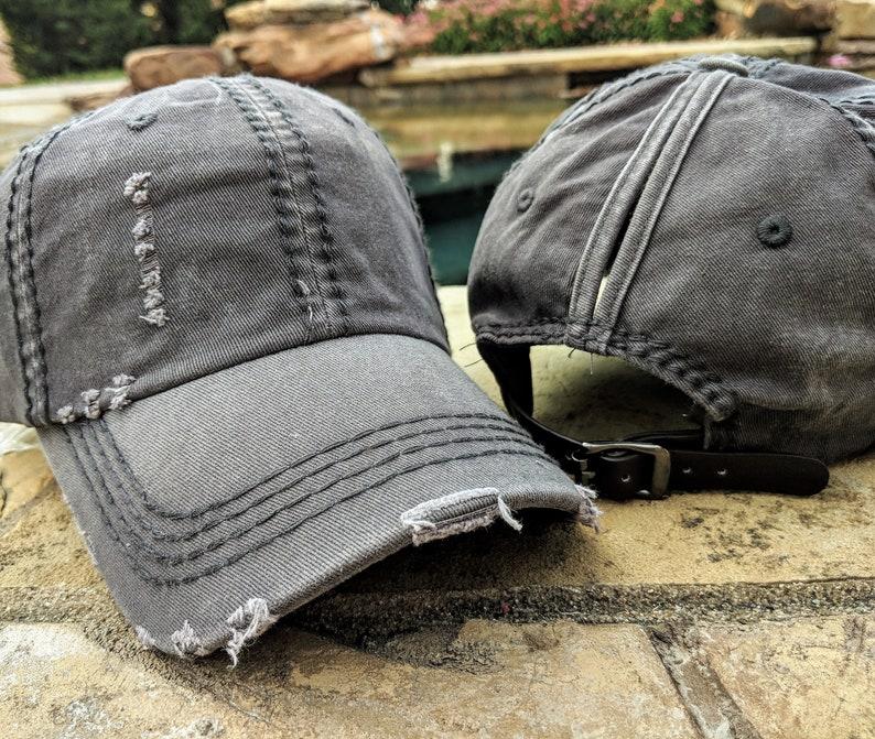 8ee35a4e Dark Grey Ponytail Cap High Ponytail Cap High Ponytail Hat | Etsy