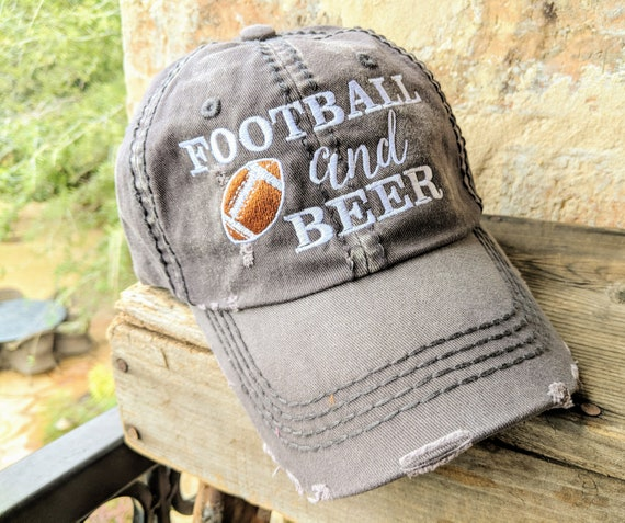 Women s football and beer hat Women s football hat  534d6dc33