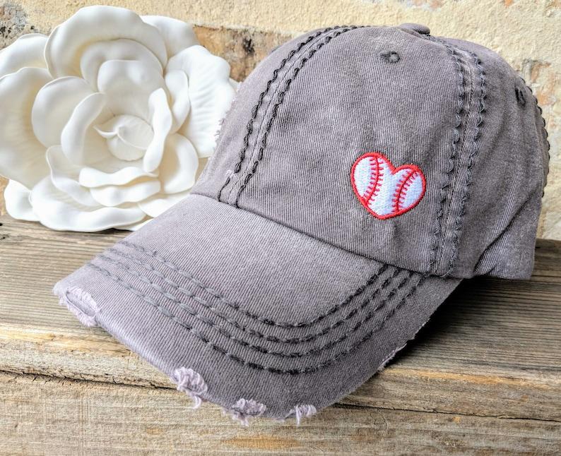 Women's Baseball Cap Baseball Love Hat Baseball Hat image 0