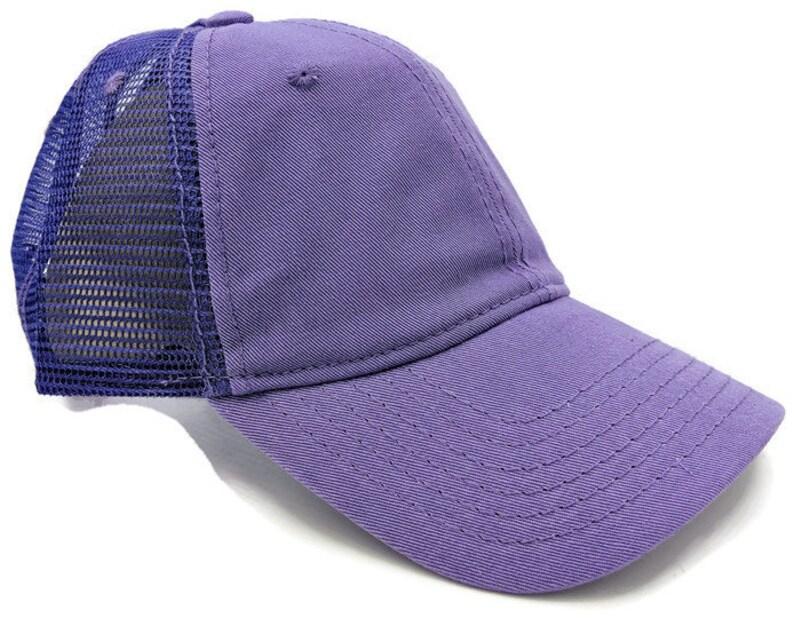 731b7943412 Purple Ponytail Cap High Ponytail Cap High Ponytail Hat