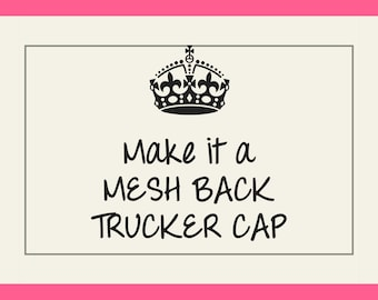 Women's Trucker Hat Switch, Add-on Item Only, Lightweight, Mesh Back, Adjustable Strap, Low Profile, Good for Warm Climates