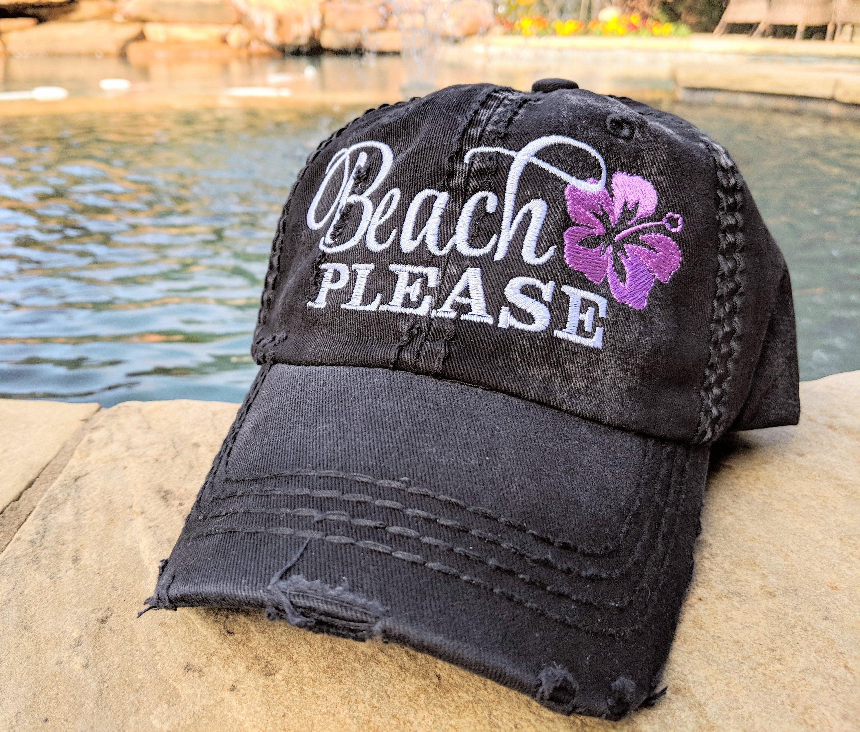 Beach Please baseball cap Women s Beach Baseball Cap  3a97e75365c