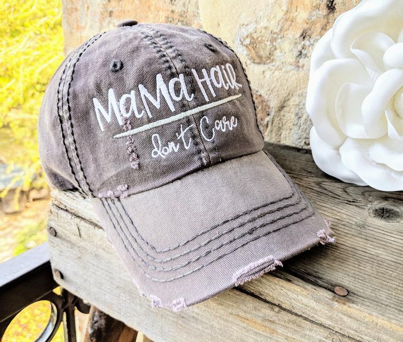 e30d2c2dcee5cc Mama Hair Don't Care Hat Mama Baseball Cap Mama Hat | Etsy