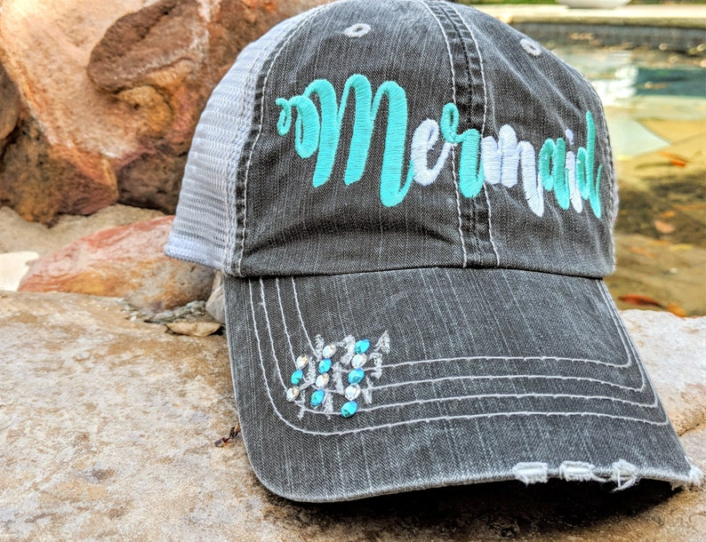 Women s mermaid hat mermaid hat mermaid baseball cap  e8ffbfb50c0