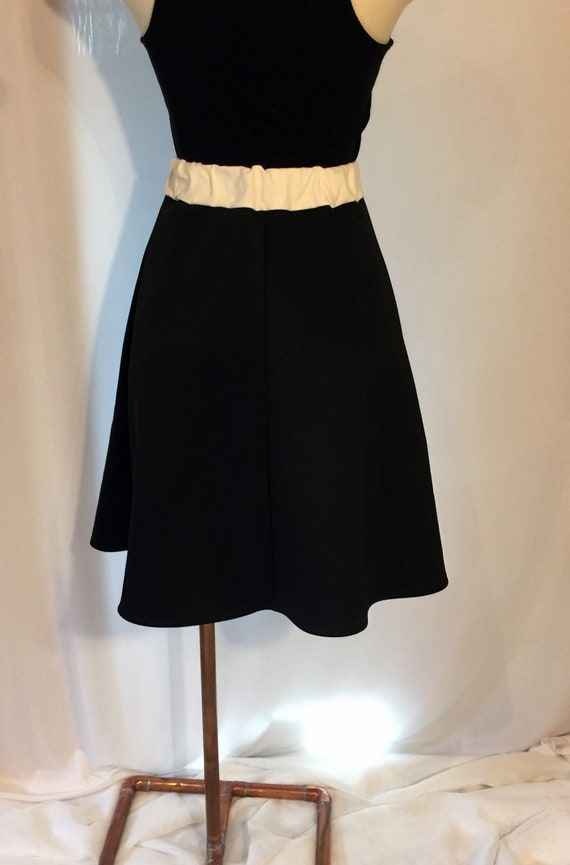 5310a8c8d6 Black & White/Cream Scuba Knit A-Line Skirt | Etsy