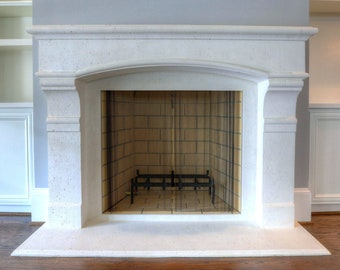 Dartmouth Luxury Cast Stone Fireplace Mantel