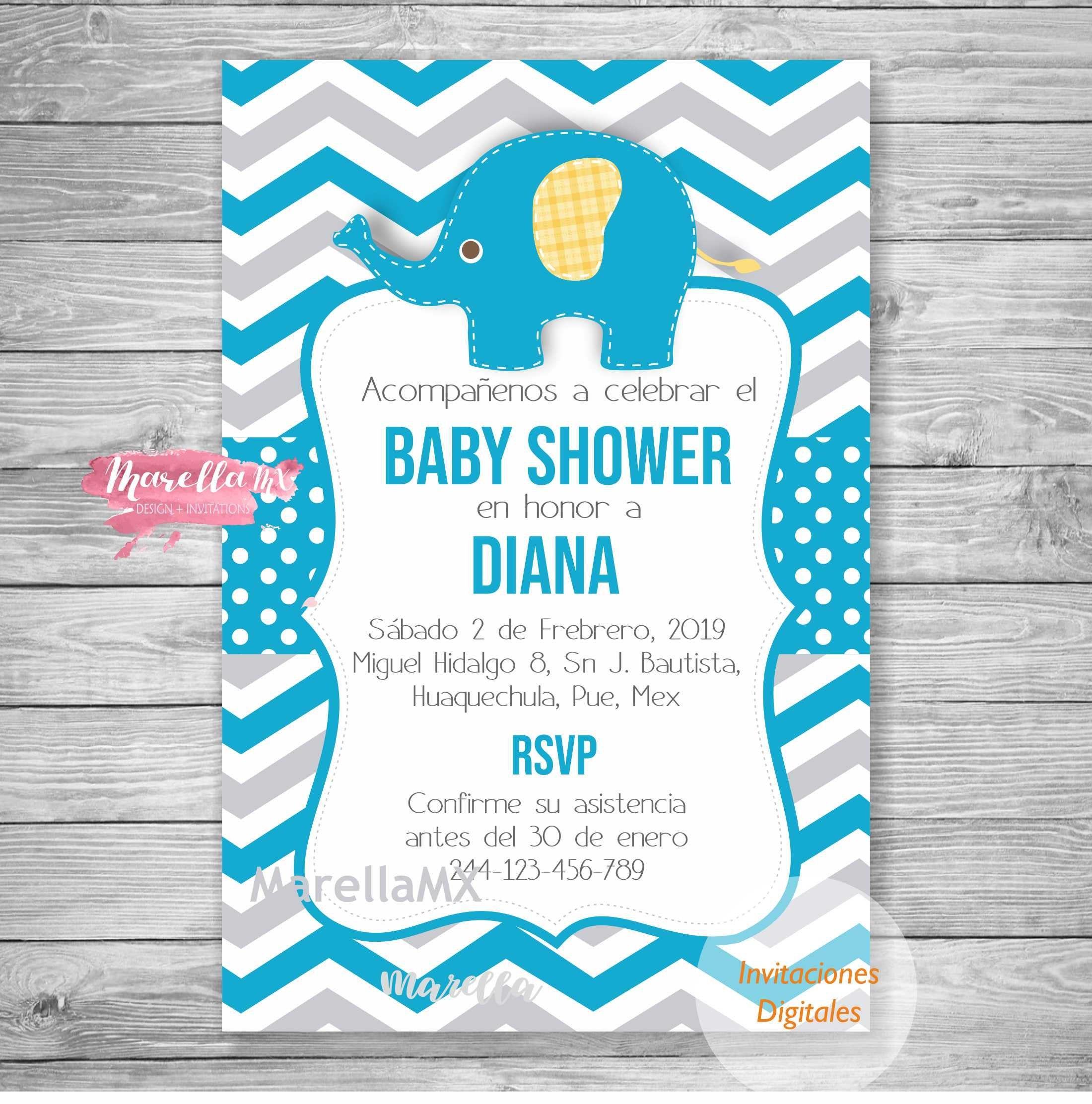 f9b5f021d7251 Invitacion Baby Shower en español baby boy para imprimir