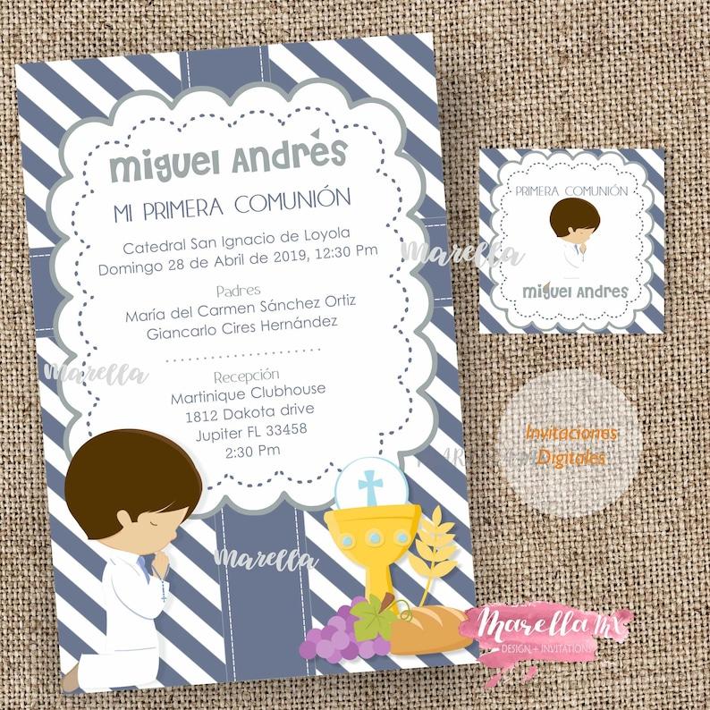 bb796378c Invitaciónes para primera comunion invitation in spanish | Etsy