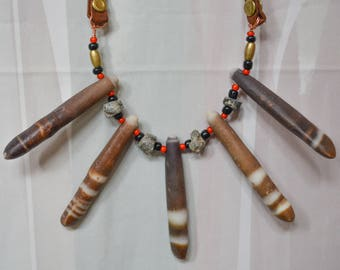 Tribal Sea Urchin Spine Necklace