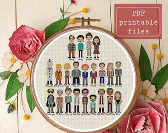 Seinfeld Cast line up funny cross stitch PATTERN! Instant download