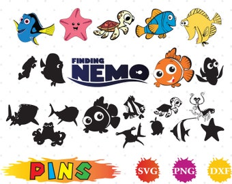 Finding Nemo Svgdxfpng Clipart For DesignPrintSilhouette Cricut