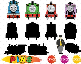 Thomas and friends svg,dxf,png/Thomas and friends clipart  for Design,Print,Silhouette, Cricut