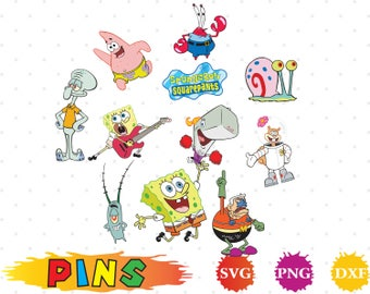 SpongeBob svg,dxf,png/SpongeBob clipart  for Silhouette, Cricut,Design,Print and any more