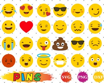 Emoji svg,dxf,png/Emoji clipart  for Design,Print,Silhouette, Cricut