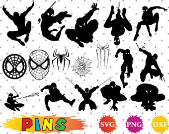 Spiderman svg,dxf,png/Spiderman clipart  for Design,Print,Silhouette, Cricut