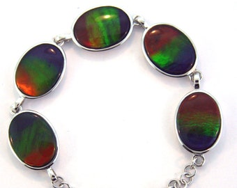 Canadian Stone 25  x 15 mm for Jewelry Making /& Wire Wrapping Doublet Pear Shape Ammolite Natural Color Loose Stone-SS1743
