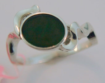 Beautiful  Canadian Ammolite Sterling Silver Ring.
