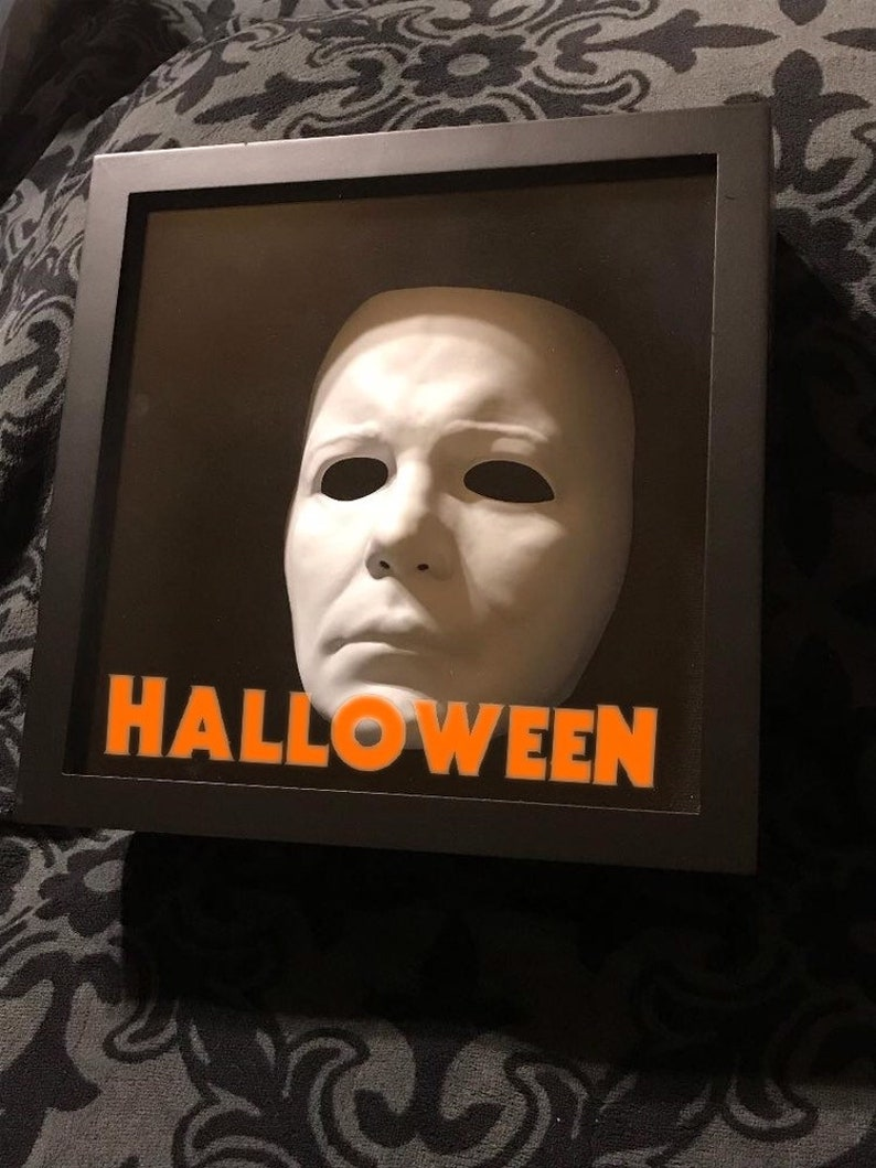 877bfef504ee Michael Myers Mask Halloween Movie Shadow Box Display Horror
