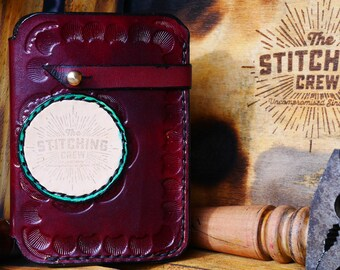 "Handmade Leather Wallet ""The Resistance"" edition Mahogany"