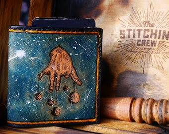 "Handmade Leather Wallet ""The Rusted"" edition Galaxy"