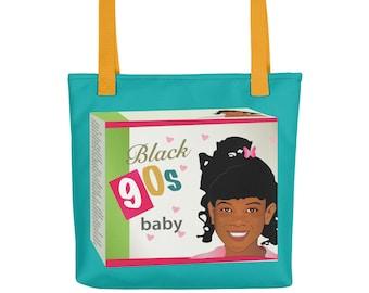Black 90s Box Tote bag