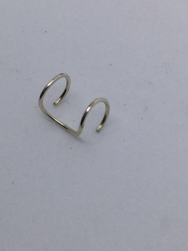 Silver Ear Cuff Faux Ear Cuff- Simple Ear Cuff Women/'s Ear Cuff -Men/'s Ear Cuff Non Pierced Ear Cuff