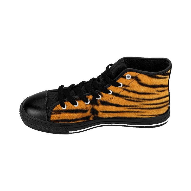 Wildlife Gift Idea Shoes For Her Animal Lover Print Tiger Print Women/'s High-top Sneakers Personalized Custom Creative Graphic Design
