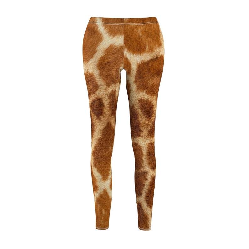 d750331d75c3 Giraffe Print Women's Cut Sew Casual Leggings Custom | Etsy
