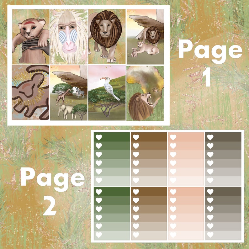 King of the Jungle Erin Condren Life Planner Weekly Kit