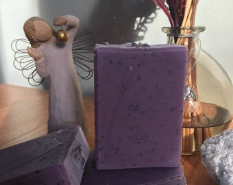 Lemon Exfoliating Bar I Cold Process Soap I Handmade Soap I Exfoliant