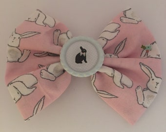 Pink Easter Bunny Bow